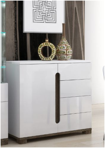 Costa Compact sideboard White Gloss - 2521