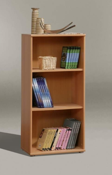 Complete Full Bookcase Daybed With Storage Benchmark Full: Tempra Beech Short Narrow Bookcase