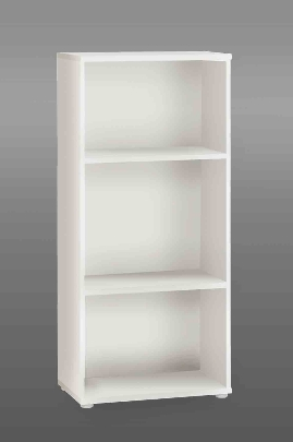 Tempra White Short Narrow Bookcase - 2340