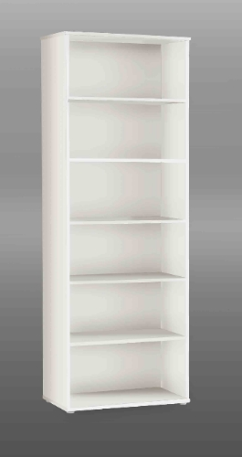 Tempra White Tall Wide Bookcase - 2492