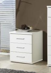 Venice Alpine White Bedside Chest Of Drawers - 2394