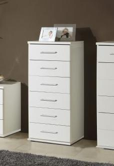 Venice Alpine white Effect Narrow Chest Of Drawers - 2396