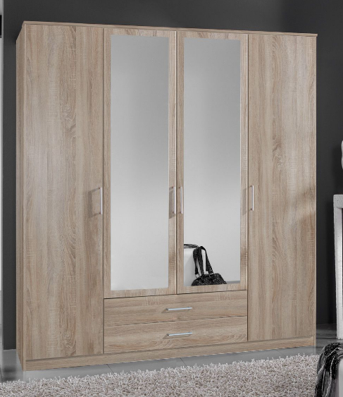 Venice Oak Effect 4d 2drw Wardrobe - 2379